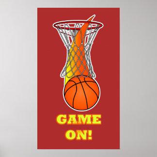 Basketball through Net: Game On Poster