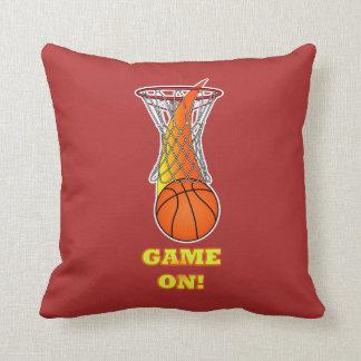 Basketball through Net: Game On Throw Pillow