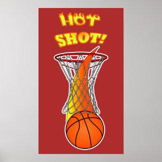 Basketball through Net:Hot Shot Poster