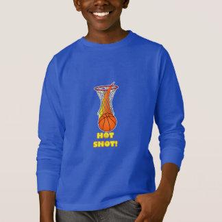 Basketball through Net:Hot Shot T-Shirt