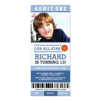 Basketball Ticket Birthday Invites