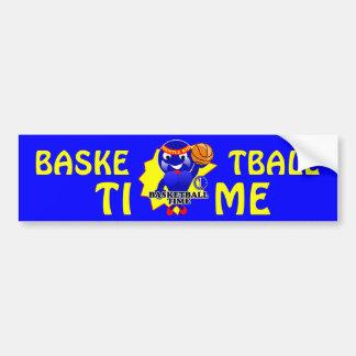 Basketball Time Car Bumper Sticker