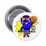 Basketball Time Pinback Buttons
