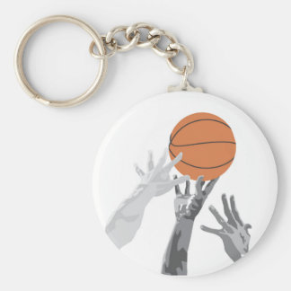 Basketball Tip Off T-shirts and Gifts Basic Round Button Keychain