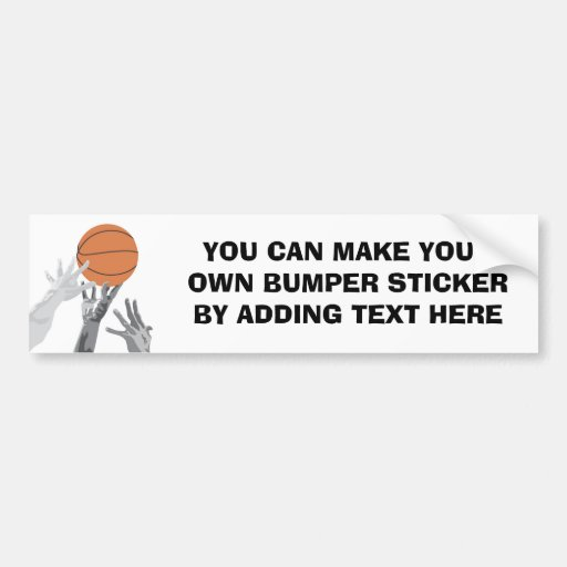 Basketball Tip Off T-shirts and Gifts Bumper Sticker