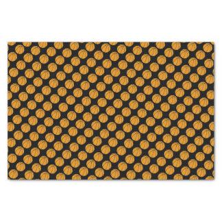 "Basketball Tissue Paper on Black Background 10"" X 15"" Tissue Paper"