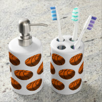 Basketball Toothbrush Holder & Soap Dispenser