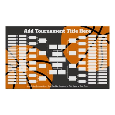 Art Themed Basketball Tournament Bracket - 64 Teams Poster