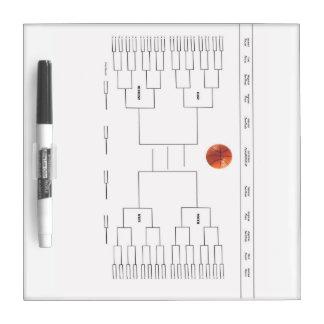 Basketball Tournament Bracket Dry-Erase Board