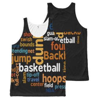 Basketball Travel Player Sports Graphic Text Art All-Over Print Tank Top