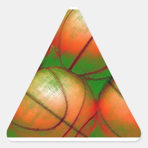 Basketball Triangle Sticker