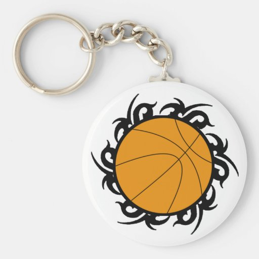 Basketball Tribal Circle Keychain