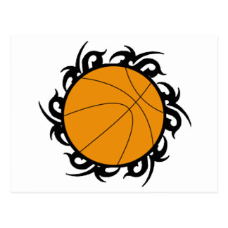 Basketball Tribal Circle Postcard