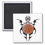 basketball. tribal. fridge magnet