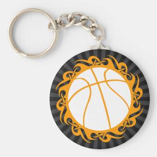 basketball. tribal. keychain