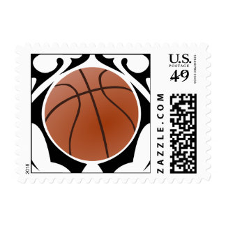 basketball. tribal. postage