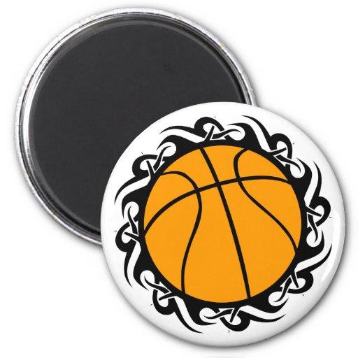 basketball. tribal. refrigerator magnets