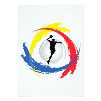 Basketball Tricolor Emblem Card