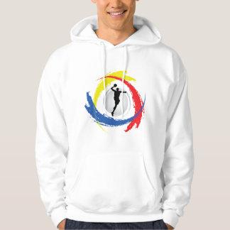 Basketball Tricolor Emblem Hoodie