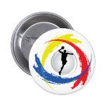 Basketball Tricolor Emblem Pins