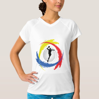 Basketball Tricolor Emblem Shirts