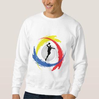 Basketball Tricolor Emblem Sweatshirt