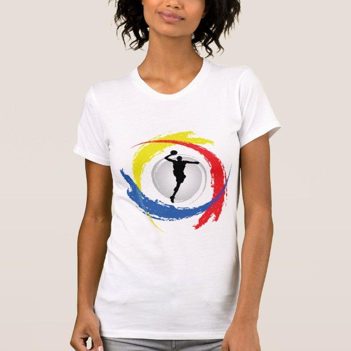 Basketball Tricolor Emblem T-Shirt