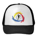 Basketball Tricolor Emblem Trucker Hat