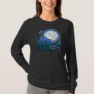 Basketball  Tropical Flower Blue T-Shirt