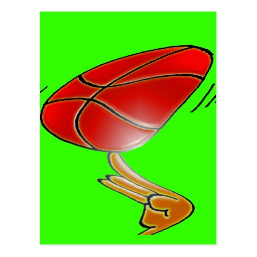 BASKETBALL TWIRLING POSTCARD