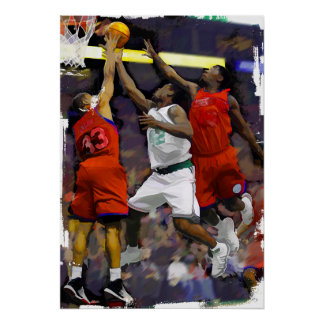 Basketball Two Against One Poster