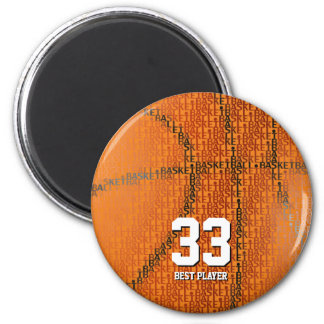 Basketball Typed text | Sport gifts 2 Inch Round Magnet