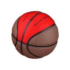 Basketball Uni Red at Zazzle