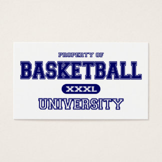 Basketball University Business Card