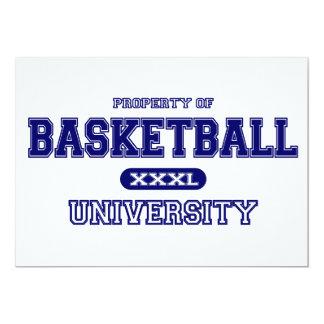 Basketball University Card