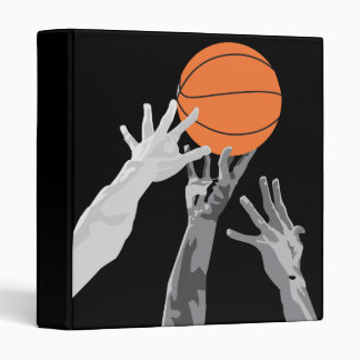 basketball up for grabs vector design 3 ring binder