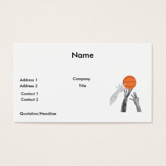 basketball up for grabs vector design business card