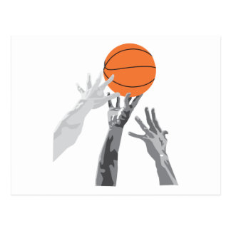 basketball up for grabs vector design postcard