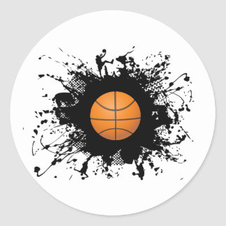 Basketball Urban Style Classic Round Sticker