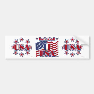 Basketball USA Bumper Sticker