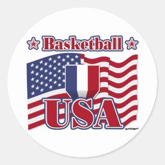 Basketball USA Classic Round Sticker