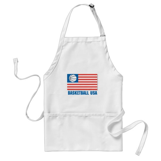 basketball usa flag adult apron