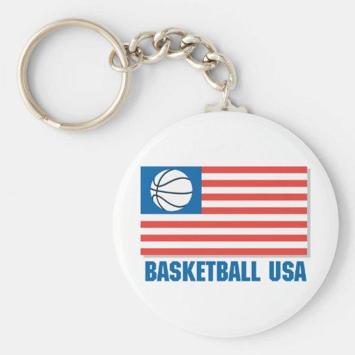 basketball usa flag keychains