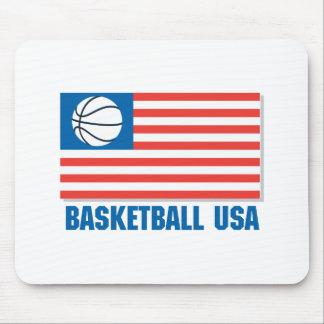 basketball usa flag mouse pad