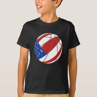 BASKETBALL USA FLAG PATRIOTIC T-Shirt