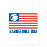 basketball usa flag postcard