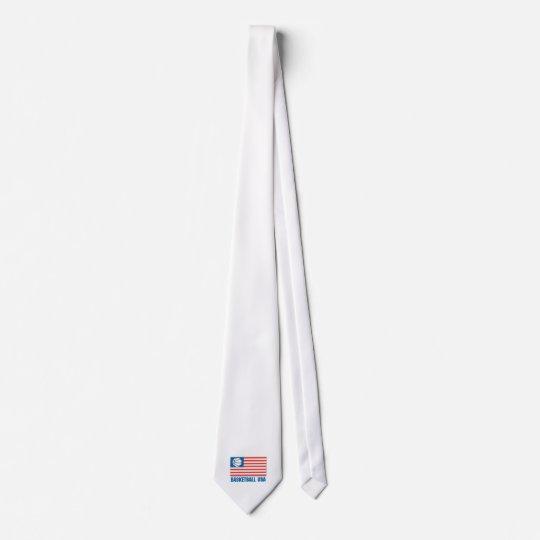 basketball usa flag tie