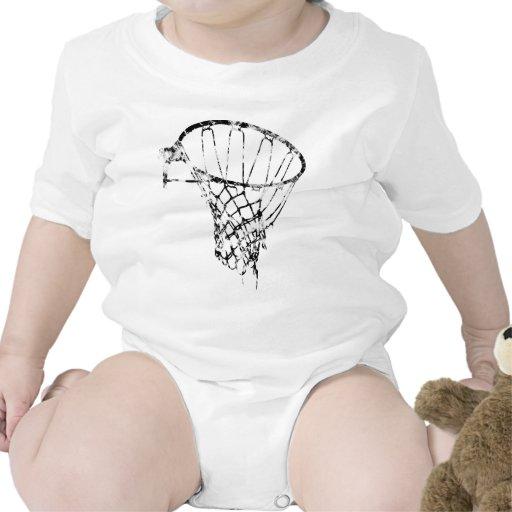 Basketball Used Look Retro T Shirts