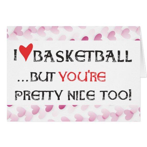 Basketball Valentine Card - I heart Basketball