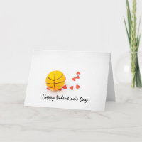 Basketball Valentine's Day Basketball with love Card